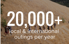 20,000 Local & International Outings per Year